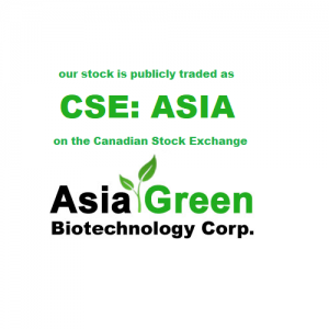 We are publicly traded as CSE:ASIA on the Canadian Stock Exchange